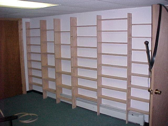Paperback Shelves Are 5 Deep While The Two Sets Of Taller Narrower 7 For Large Format Books